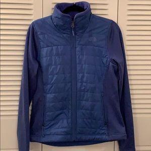 Lightly worn blue North Face jacket, size M